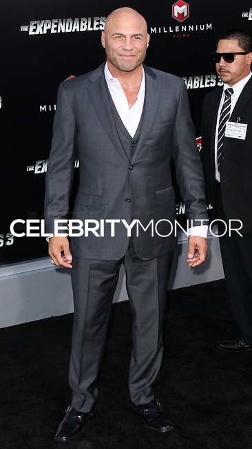 HOLLYWOOD, LOS ANGELES, CA, USA - AUGUST 11: Randy Couture at the Los Angeles Premiere Of Lionsgate Films' 'The Expendables 3' held at the TCL Chinese Theatre on August 11, 2014 in Hollywood, Los Angeles, California, United States. (Photo by Xavier Collin/Celebrity Monitor)