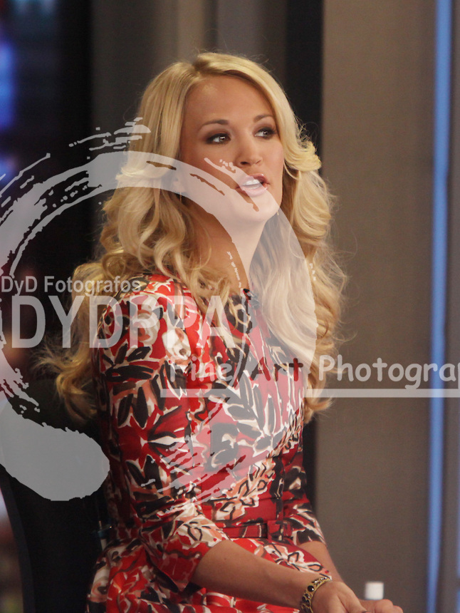 Actress and singer Carrie Underwood ( Las Vegas, Nevada, USA ) on 'Good Morning America' in New York City. NYC on August 12, 2013. Photo by Media Punch/Unimedia Images/ DyD Fotografos