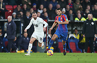 Burnley's Steven Defour and Crystal Palace's James Tomkins<br /> <br /> Photographer Rob Newell/CameraSport<br /> <br /> The Premier League - Saturday 1st December 2018 - Crystal Palace v Burnley - Selhurst Park - London<br /> <br /> World Copyright &copy; 2018 CameraSport. All rights reserved. 43 Linden Ave. Countesthorpe. Leicester. England. LE8 5PG - Tel: +44 (0) 116 277 4147 - admin@camerasport.com - www.camerasport.com