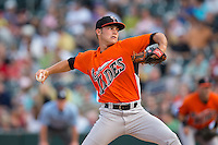 Norfolk Tides starting pitcher Tyler Wilson (34) in action against the Charlotte Knights at BB&T BallPark on April 9, 2015 in Charlotte, North Carolina.  The Knights defeated the Tides 6-3.   (Brian Westerholt/Four Seam Images)