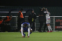 Romford Celebrations at the final whistle during Grays Athletic vs Romford, Bostik League Division 1 North Football at Parkside on 1st January 2018