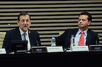 SAO PAULO, 21 DE JUNHO DE 2012 - SKAF ENCONTRA MARIANO RAJOY -  o presidente do governo da Espanha Mariano Rajoy (E) e o prefeito Gilberto Kassab (D) em encontro, na tarde desta quinta feira, na Fiesp, regiao central da capital. FOTO: ALEXANDRE MOREIRA - BRAZIL PHOTO PRESS