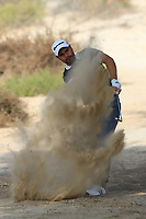 Romain Langasque (FRA) in the rough on the 3rd during Round 4 of the Omega Dubai Desert Classic, Emirates Golf Club, Dubai,  United Arab Emirates. 27/01/2019<br /> Picture: Golffile | Thos Caffrey<br /> <br /> <br /> All photo usage must carry mandatory copyright credit (&copy; Golffile | Thos Caffrey)