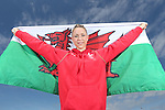 Glasgow 2014 Commonwealth Games<br /> <br /> Welsh gymnast Frankie Jones holding the Welsh flag she will carry when she leads out Team Wales at the opening ceremony in Celtic Park.<br /> <br /> 22.07.14<br /> &copy;Steve Pope-SPORTINGWALES