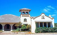 Duarte CA: Duarte School, 1247 Buena Vista St., Duarte.  F.S. Allen, 1908. Mission Revival. Photo 1991.
