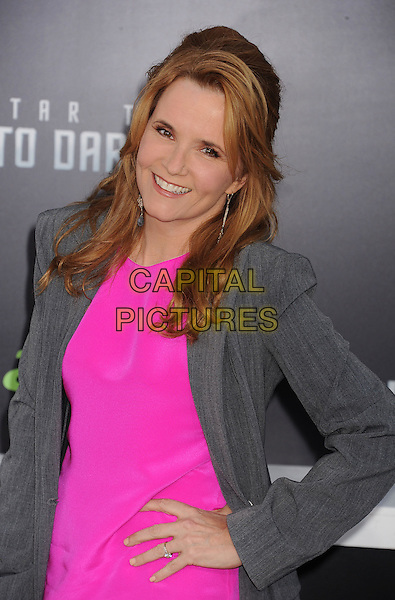"Lea Thompson.""Star Trek Into Darkness"" Los Angeles Premiere held at the Dolby Theatre, Hollywood, California, USA..May 14th, 2013.half length pink dress grey gray jacket hand on hip.CAP/ROT/TM.©Tony Michaels/Roth Stock/Capital Pictures"