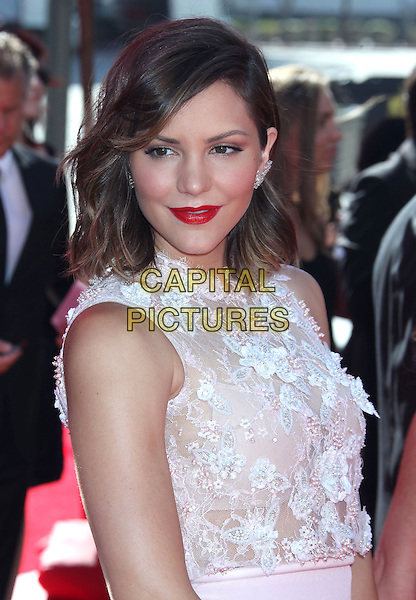 Katharine McPhee<br /> 2013 Primetime Creative Arts Emmy Awards - Arrivals held at Nokia Theatre LA Live, Los Angeles, California, USA.<br /> September 15th, 2013<br /> half length white lace red lipstick <br /> CAP/ADM/RE<br /> &copy;Russ Elliot/AdMedia/Capital Pictures