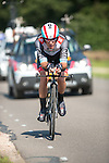 SITTARD, NETHERLANDS - AUGUST 16: Giacomo Nizzolo of Italy riding for Radioshack-Leopard competes during stage 5 of the Eneco Tour 2013, a 13km individual time trial from Sittard to Geleen, on August 16, 2013 in Sittard, Netherlands. (Photo by Dirk Markgraf/www.265-images.com)