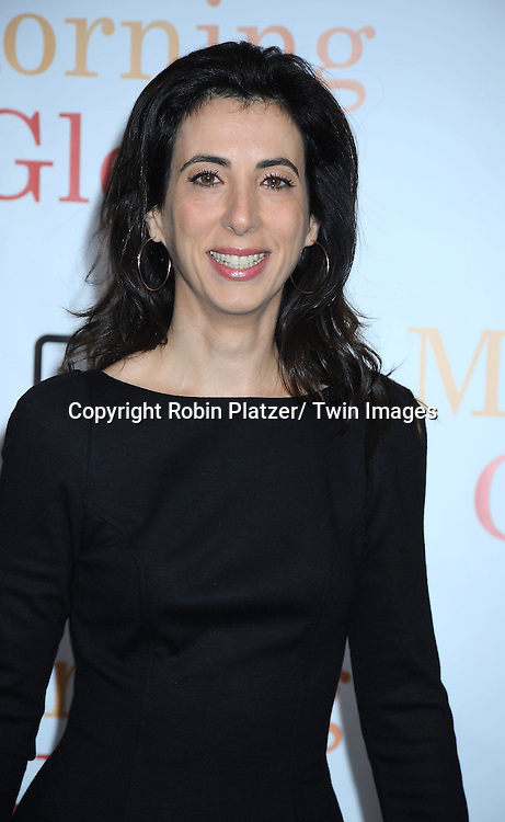 "writer Aline Brosh McKenna attending the World Premiere of "" Morning Glory"" starring Harrison Ford, Diane Keaton and Rachel McAdams on November 7, 2010 at The Ziegfeld Theatre in New York City."