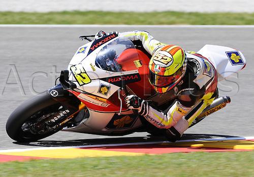 06 06 2010 Lukas Pesek CZE Moriwaki. Moto2 class, 600cc spec Honda eninges in prototype chassis. Gran Premio d'Italia TIM, Mugello circuit, Italy.