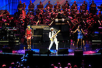 Nile Rodgers & Chic during the Ryder Cup Gala Concert 2014 at SSE Hydro on Wednesday 24th September 2014.<br /> Picture:  Thos Caffrey / www.golffile.ie