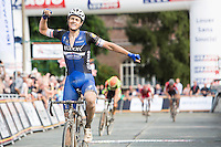Niki Terpstra (NLD/Etixx-QuickStep) wins the first edition of Dwars door het Hageland 2016<br /> (pic by Léon Van Bon)
