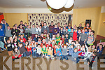 MEDALS: On Sunday at The White Sands Hotel, Eamon Fitzmaurice (Senior Kerry Football Manager) who presented medals, trophys to the under 6s to 15 young Ballyheigue Hurlers and the community games winners on Sunday.