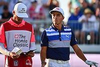 Rickie Fowler (USA) looks over his tee shot on 17 during round 3 of the Honda Classic, PGA National, Palm Beach Gardens, West Palm Beach, Florida, USA. 2/25/2017.<br /> Picture: Golffile | Ken Murray<br /> <br /> <br /> All photo usage must carry mandatory copyright credit (&copy; Golffile | Ken Murray)
