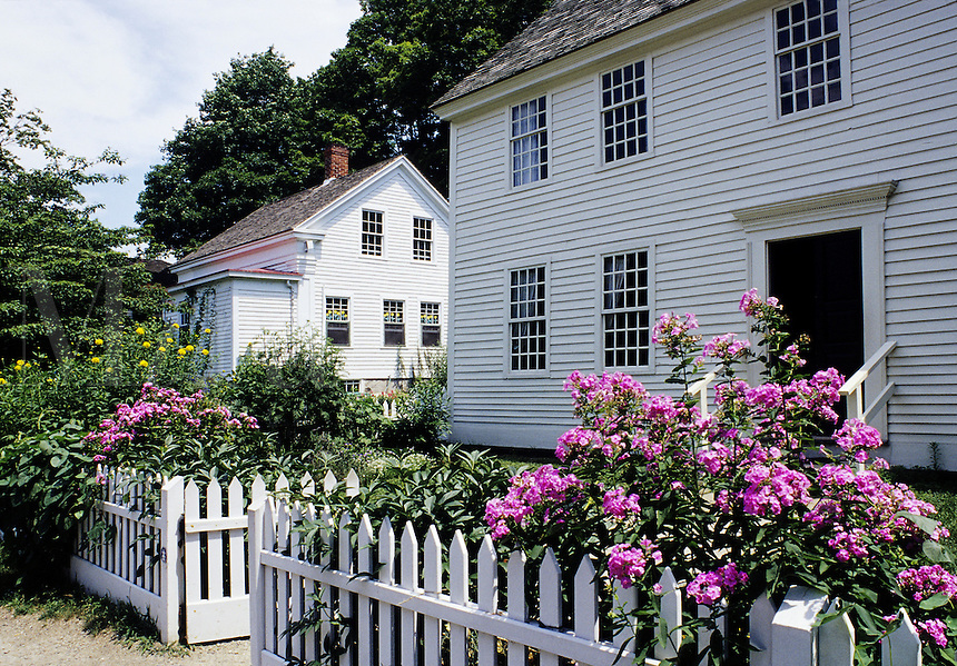 Mystic, Connecticut&#xA;Two historic houses. In foreground is the 1768 Buckingham house<br />