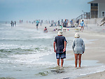 Cape San Blas beach activity and retired couple.