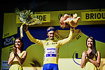 Julian Alaphilippe (FRA) Deceuninck-Quick Step retains the Yellow Jersey at the end of Stage 9 of the 2019 Tour de France running 170.5km from Saint-Etienne to Brioude, France. 14th July 2019.<br /> Picture: ASO/Pauline Ballet | Cyclefile<br /> All photos usage must carry mandatory copyright credit (© Cyclefile | ASO/Pauline Ballet)