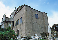 Italy: Rome--Roman Forum, The Curia (Senate Chamber). Modified by Diocletian, 4th C.