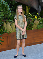 Isabella Sermon at the premiere for &quot;Jurassic World: Fallen Kingdom&quot; at the Walt Disney Concert Hall, Los Angeles, USA 12 June 2018<br /> Picture: Paul Smith/Featureflash/SilverHub 0208 004 5359 sales@silverhubmedia.com