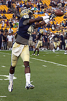 Pittsburgh Panthers Linebacker Eric Williams. The Youngstown St. Penguins defeated the Pittsburgh Panthers 31-17 on Saturday, September 1, 2012 at Heinz Field in Pittsburgh, PA.
