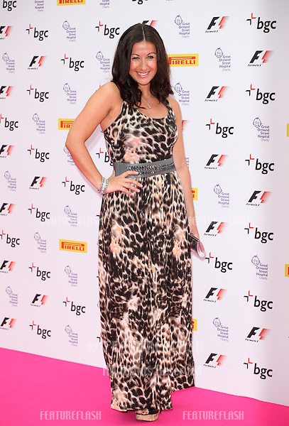 Hayley Tamaddon arriving for The F1 Party in aid of GOSH at Battersea Evolution, London. 04/07/2012 Picture by: Alexandra Glen / Featureflash