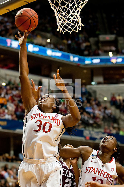 INDIANAPOLIS, IN - APRIL 3, 2011: Nnemkadi Ogwumike during the NCAA Final Four against Texas A&M at Conseco Fieldhouse  in Indianapolis, IN on April 1, 2011.