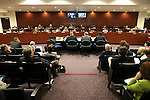 Lawmakers work in a joint money committee hearing at the Legislative Building in Carson City, Nev., on Monday, May 25, 2015. <br /> Photo by Cathleen Allison