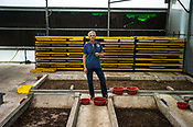 57 year old Frédéric Viala, president of Entofood, (the pilot project involving maggot production) poses inside the greenhouse in village Kundang, at the outskirts of capital Kuala Lumpur, Malaysia.
