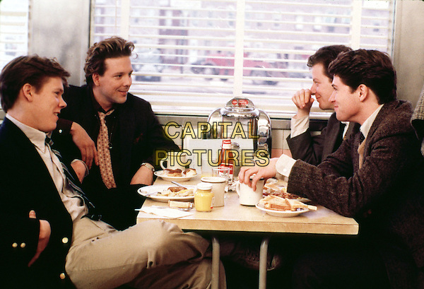 KEVIN BACON & MICKEY ROURKE.in Diner (1982).*Filmstill - Editorial Use Only*.CAP/STF/PEL.Supplied by Capital Pictures.