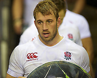 Chris Robshaw of England after winning the Hilary Shield between England and New Zealand at Twickenham on Saturday 01 December 2012 (Photo by Rob Munro)