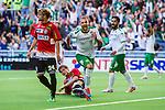 Stockholm 2014-06-08 Fotboll Superettan Hammarby IF - Landskrona BoIS  :  <br /> Hammarbys Kennedy Bakircioglu jublar efter att gjort 1-0 i den f&ouml;rsta halvleken<br /> (Foto: Kenta J&ouml;nsson) Nyckelord:  Superettan Tele2 Arena Hammarby HIF Bajen Landskrona BoIS jubel gl&auml;dje lycka glad happy