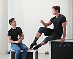 """Matt Doyle and Ashley Day during a press Sneak-Peek for The Joyce Theater's presentation of """"Freddie Falls in Love"""" at Gibney Dance on July 15, 2019 in New York City."""