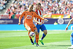 Atletico de Madrid's Filipe Luis and SD Eibar's Pedro Leon Sanchez during Liga Liga match between Atletico de Madrid and SD Eibar at Vicente Calderon Stadium in Madrid, May 06, 2017. Spain.<br /> (ALTERPHOTOS/BorjaB.Hojas)