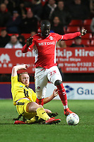 Naby Sarr of Burton Albion tries to elude a tackle from Burton's Liam Boyce during Charlton Athletic vs Burton Albion, Sky Bet EFL League 1 Football at The Valley on 12th March 2019