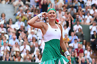 Kristina Mladenovic (Fra)<br /> Tennis Roland Garros 2017 <br /> Foto Antoine Couvercelle / Panoramic / Insidefoto <br /> ITALY ONLY