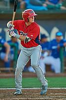 Justin Kunz (7) of the Orem Owlz at bat against the Ogden Raptors at Lindquist Field on September 3, 2019 in Ogden, Utah. The Raptors defeated the Owlz 12-0. (Stephen Smith/Four Seam Images)
