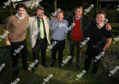 2007-03-14<br />Heineken Regatta: Enkele leden van het Belgische team dat 4e werd. vlnr. Marnick Rens, Guido Rens, David Saeys, Carl Mari&euml;n en Danny Backaert