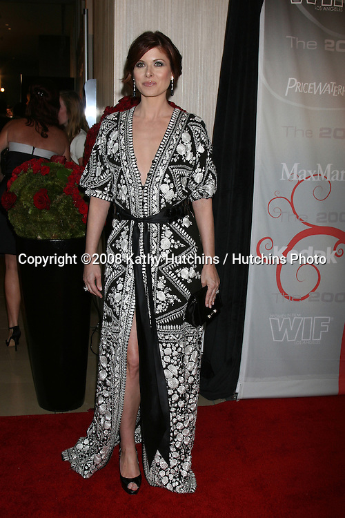 Debra Messing arriving at the 2008 Crystal & Lucy Awards at the Beverly Hilton Hotel in Beverly Hills, CA.June 17, 2008.©2008 Kathy Hutchins / Hutchins Photo .