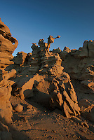 746000021 strange sandstone formations stand watch over the landscape in fantasy canyon a blm property in the middle of a working oil field in northeastern utah united states