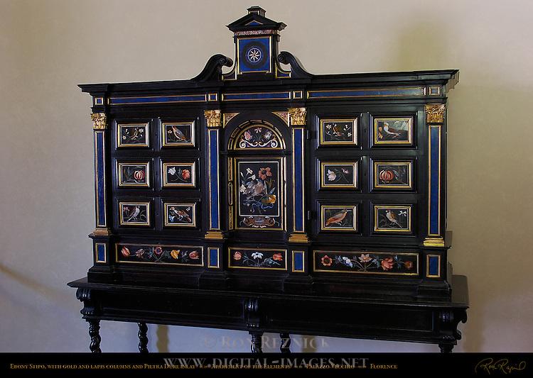 Stipo Cabinet Ebony Lapis Lazuli Pietre Dure Apartment of the Elements Palazzo Vecchio Florence