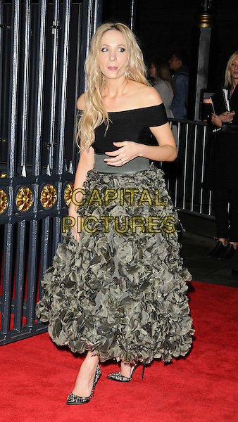 Joanne Froggatt<br /> attended the BFI London Film Festival Awards 2013, 57th BFI London Film Festival day 11, Banqueting House, Whitehall, London, England, UK, 19th October 2013.<br /> full length off the shoulder black green khaki ruffles ruched skirt dress shoes hand clutch bag tongue funny <br /> CAP/CAN<br /> &copy;Can Nguyen/Capital Pictures