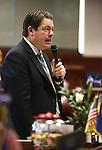 Nevada Sen. Majority Leader Michael Roberson, R-Henderson, speaks on the Senate floor at the Legislative Building in Carson City, Nev., on Thursday, Feb. 5, 2015. <br /> Photo by Cathleen Allison