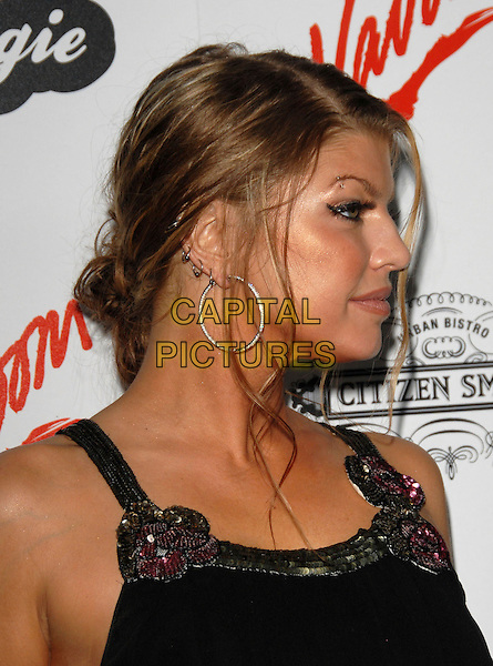 FERGIE - STACEY FERGUSON.Fergie's Birthday Party at Citizen Smith Nightclub in Hollywood, California, USA. .March 28th, 2006.Ref: DVS.Black Eyed Peas headshot portrait hoop earrings profile.www.capitalpictures.com.sales@capitalpictures.com.Supplied By Capital PIctures