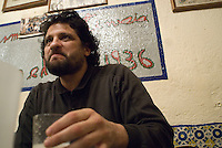 Luis Madahuar at Pulqueria La Hermita (Pulqueria is a type of bar which serves a fermented cactus drink)founded in 1936 in Mexico City's Plaza Garibaldi.  Thursday, April 5, 2007