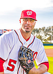 28 February 2016: Washington Nationals outfielder Reed Johnson poses for his Spring Training Photo-Day portrait at Space Coast Stadium in Viera, Florida. Mandatory Credit: Ed Wolfstein Photo *** RAW (NEF) Image File Available ***