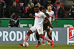 08.02.2019, Rheinenergiestadion, Köln, GER, DFL, 2. BL, VfL 1. FC Koeln vs FC St. Pauli, DFL regulations prohibit any use of photographs as image sequences and/or quasi-video<br /> <br /> im Bild v. li. im Zweikampf Jhon Cordoba (#15, 1.FC Köln / Koeln)  Jeremy Dudziak (#8, FC St. Pauli) Jonas Hector (#14, 1.FC Köln / Koeln) <br /> <br /> Foto © nph/Mauelshagen
