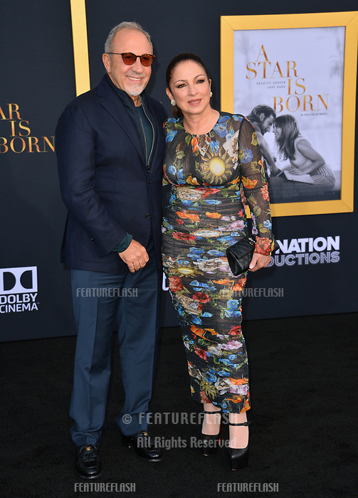 LOS ANGELES, CA. September 24, 2018: Gloria Estefan &amp; Emilio Estefan at the Los Angeles premiere for &quot;A Star Is Born&quot; at the Shrine Auditorium.<br /> Picture: Paul Smith/Featureflash