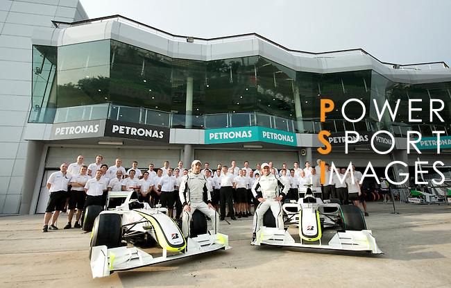 02 Apr 2009, Sepang Circuit, Kuala Lumpur, Malaysia --- Brawn GP Formula One Team during the 2009 Fia Formula One Malasyan Grand Prix at the Sepang circuit near Kuala Lumpur. Photo by Victor Fraile --- Image by © Victor Fraile / The Power of Sport Images