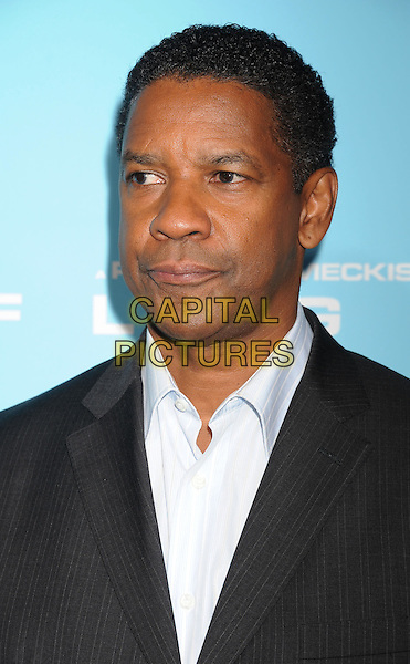 "Denzel Washington .The Los Angeles premiere of ""Flight"" at ArcLight Cinemas in Hollywood, California, USA..October 23rd, 2012.headshot portrait black suit white shirt  .CAP/ROT/TM.©Tony Michaels/Roth Stock/Capital Pictures"