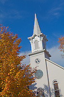 Benzie County, MI  <br /> First Congregational Church of Frankfort in fall